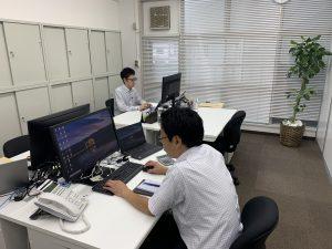 汐留社会保険労務士法人埼玉支店の執務室