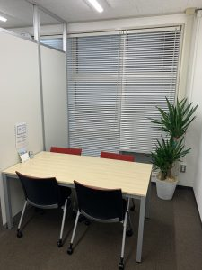 汐留社会保険労務士法人埼玉支店の応接室